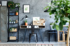 Artistic botanical office room interior Stock Images