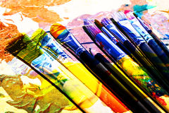 Artistic brush abstract Stock Photography