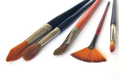 Artistic brushes Stock Photography