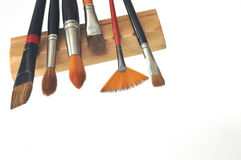 Artistic brushes. Isolated on the white beckground Royalty Free Stock Images