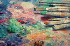 Artistic brushes Royalty Free Stock Images