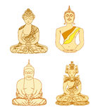 Artistic Buddhism Pattern set Stock Photography