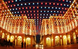artistic buildings lights Στοκ εικόνες με δικαίωμα ελεύθερης χρήσης