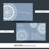 Artistic business card or visiting card. Royalty Free Stock Photography