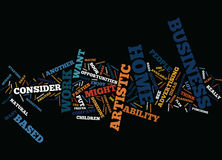Artistic Business Opportunities Word Cloud Concept Stock Photo