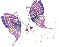 Artistic butterfly face background Royalty Free Stock Photography