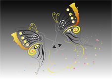 Artistic butterfly face in black background Stock Images