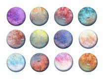 Artistic buttons royalty free stock photo