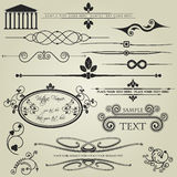 Artistic calligraphy designs Royalty Free Stock Photos