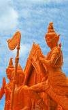 Artistic of candle festival in Thailand. Royalty Free Stock Photo