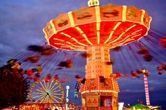 Artistic Carnival Ride Scene Royalty Free Stock Image
