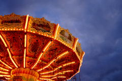 Artistic Carnival Ride Scene Royalty Free Stock Photo