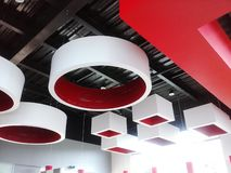 Artistic ceiling in food store Royalty Free Stock Photo