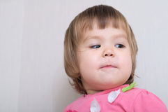 Artistic Child portrait imagining face Royalty Free Stock Photo