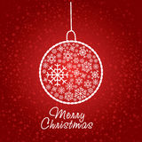 Artistic christmas card Stock Images