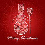 Artistic christmas card Royalty Free Stock Photography