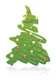 Artistic Christmas tree. Stylized artistic Christmas tree 3D vector illustration Royalty Free Stock Photo
