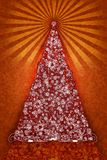 Artistic Christmas Tree Illustration Stock Photo