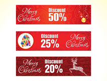 Artistic christmas web banner. Vector illustration Royalty Free Stock Images