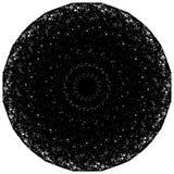 Artistic circle shape made of dense line. Abstract circle, circl Royalty Free Stock Photo