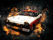 artistic classic car Royalty Free Stock Images