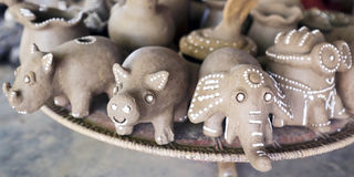 Artistic clay craft Stock Images