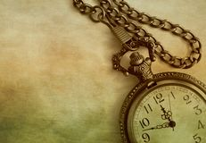 Free Artistic Close-up Of Antique Pocket Watch And Chain On Colorful Textured Background With Copy Space Royalty Free Stock Photo - 141106555