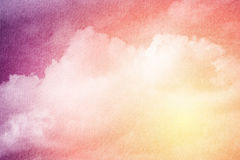 Artistic cloud and sky with gradient color  and grunge texture Royalty Free Stock Photography