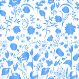 Artistic cold colors floral paper Stock Image