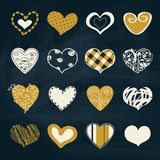 Artistic collection of hearts in assorted designs Stock Photos