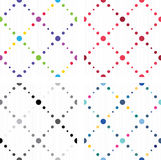 Artistic colored seamless textures Stock Images