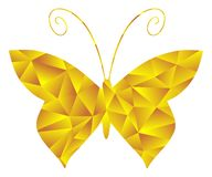 Artistic colorful butterfly mosaic  Royalty Free Stock Images