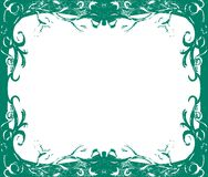 Artistic colorful Floral frame. Background with flowers and lines Stock Photography