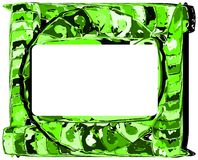 Artistic colorful frame in green tones Royalty Free Stock Images