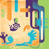 Artistic colorful illustration. Royalty Free Stock Photos