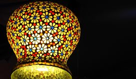 Artistic Colorful lamp in India stock photos