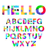 Artistic colorful ornament font. Vector illustration Stock Photo