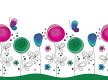 Artistic colorful seamless flower pattern Royalty Free Stock Image