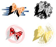 Artistic colorful set of butterflies isolated Stock Photo