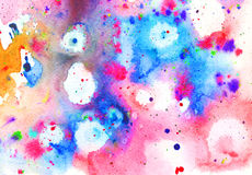 Artistic colorful watercolor background Royalty Free Stock Images