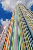 Artistic column in the district La Defense, Paris, France Stock Images