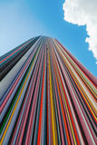 Artistic column in the district La Defense, Paris, France Stock Photography