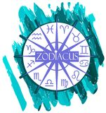 Artistic composition with Zodiac signs Stock Images
