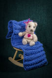 Artistic compositions with knitted animals. Bears knit royalty free stock photos
