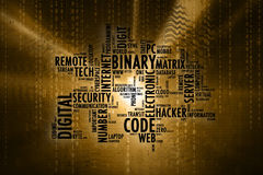 Artistic computer word cloud background Stock Photos