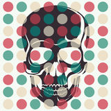 Artistic concept with skull. Stock Images