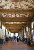 Artistic corridor of Uffizi Gallery, Florence, Italy Royalty Free Stock Photo