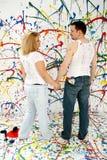 artistic couple Στοκ φωτογραφία με δικαίωμα ελεύθερης χρήσης