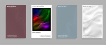 Artistic covers design. Creative fluid colors backgrounds. Trendy design. Eps10 vector. Stock Photography