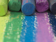 Artistic crayons Royalty Free Stock Images